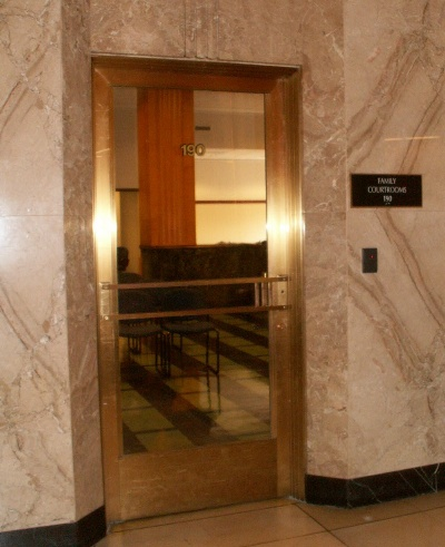 Family Courtrooms Entrance