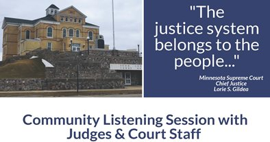Public invited to attend and share their experiences at community listening session with Seventh Judicial District Judges and Staff