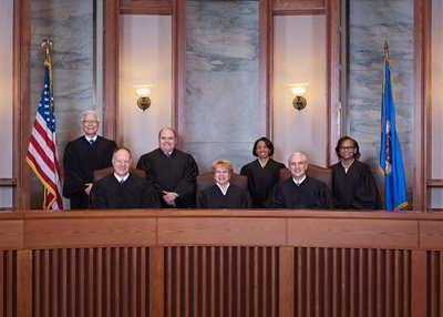 Group photo of the seven members of the Minnesota Supreme Court