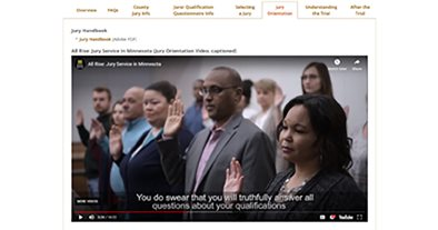 New juror orientation video and handbook released