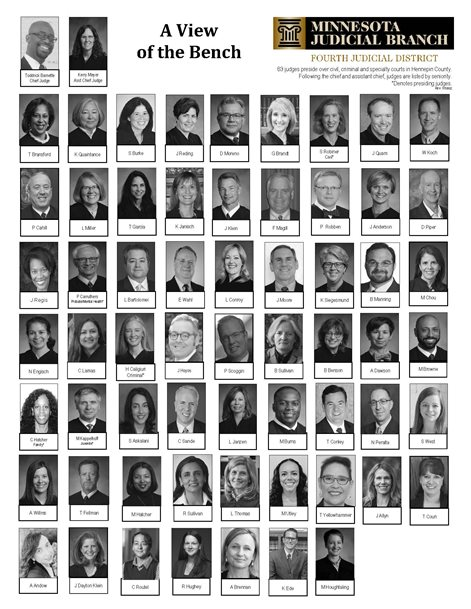 Photo collage of Hennepin County judges
