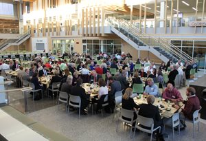 Nearly 200 people from the Alexandria region attend a community dinner with the MN Supreme Court