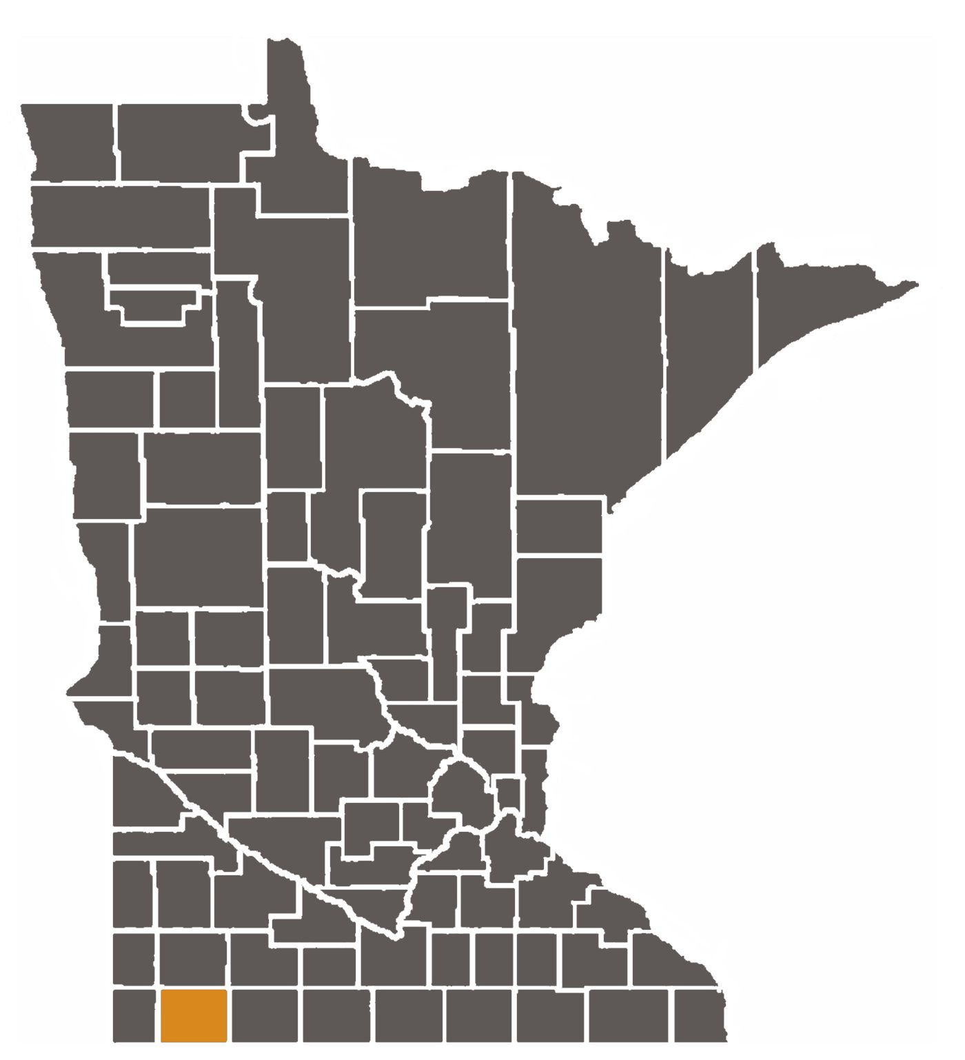 Minnesota map with Nobles County highlighted.